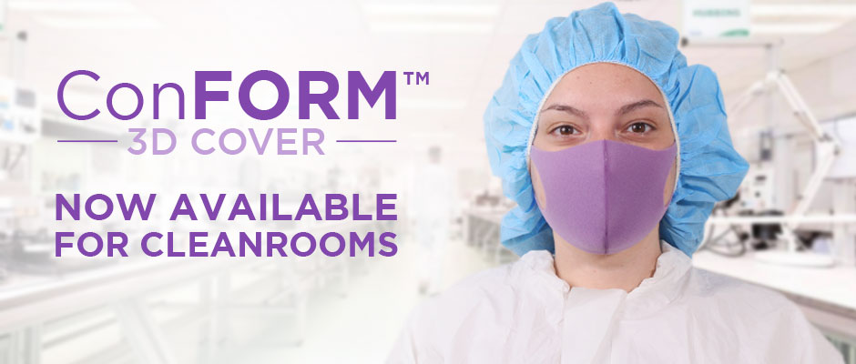 3D Cleanroom Foam Face Mask to Enhance Comfort over an Entire Shift. Class 100 / ISO 5 Fiber-Free Face Masks.