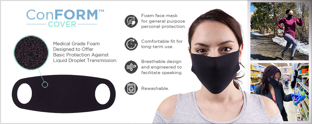 Foam Face Cover for General Purpose Personal Protection